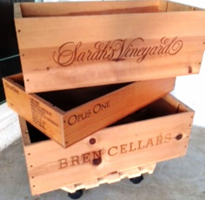 Wooden crates as planters - line them before planting