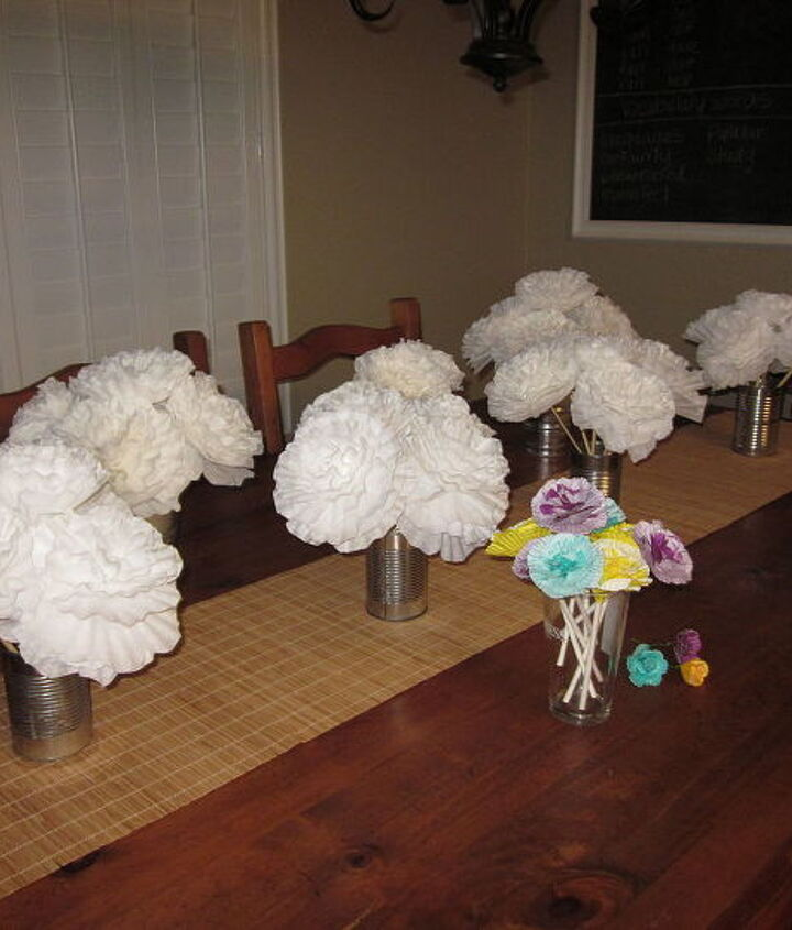 flowers i made for a friends wedding, crafts, flowers