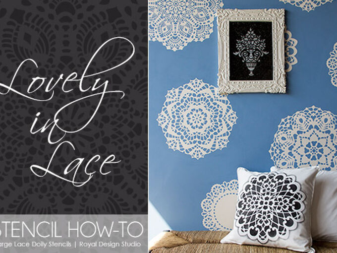 how to stencil a lace doily wall, chalk paint, painted furniture, How to Stencil a Lace Doily Wall with our NEW Large Lace Doily Set