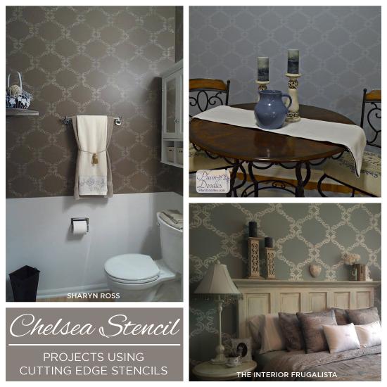 stencil spotlight chelsea stencil, bathroom ideas, painting