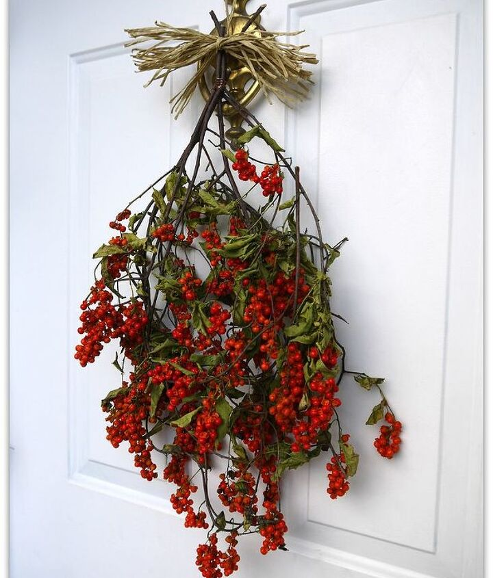 welcome in fall with bittersweet vines amp berries, crafts, seasonal holiday decor, wreaths