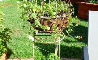 gardening wire planters and hanging baskets transformation, flowers, gardening, After