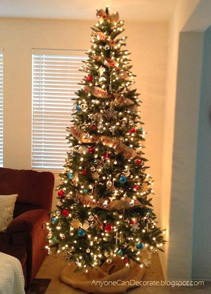 diy burlap christmas tree garland christmas decorations crafts seasonal holiday decor - Christmas Tree Ribbon Garland