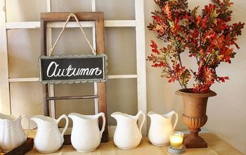 rustic autumn farmhouse fall entryway, repurposing upcycling, seasonal holiday d cor