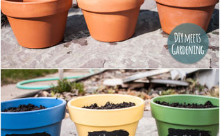 eco friendly chalkboard paint pots with herb planting tutorial, chalkboard paint, container gardening, crafts, gardening, Eco friendly paint sources for painting pots with edibles