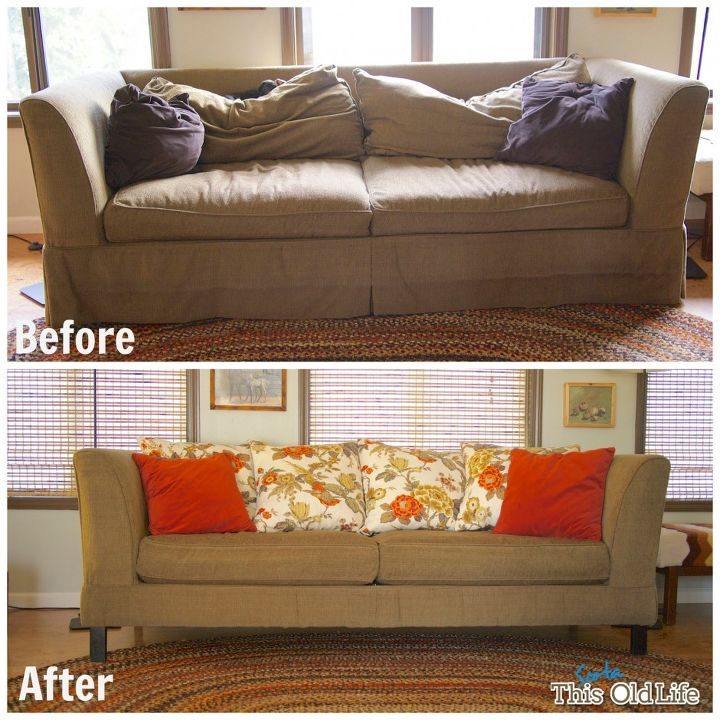 easy diy save for a tired old sofa hometalk