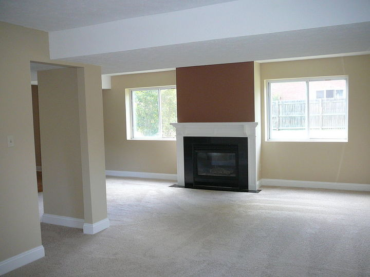 Built in gas fireplace AFTER