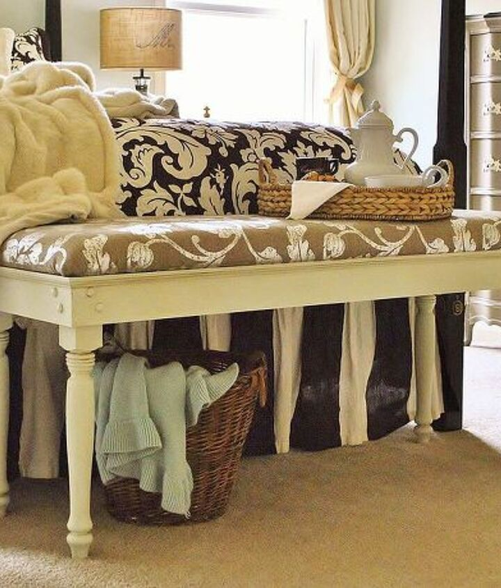 diy bench tutorial, bedroom ideas, painted furniture, woodworking projects