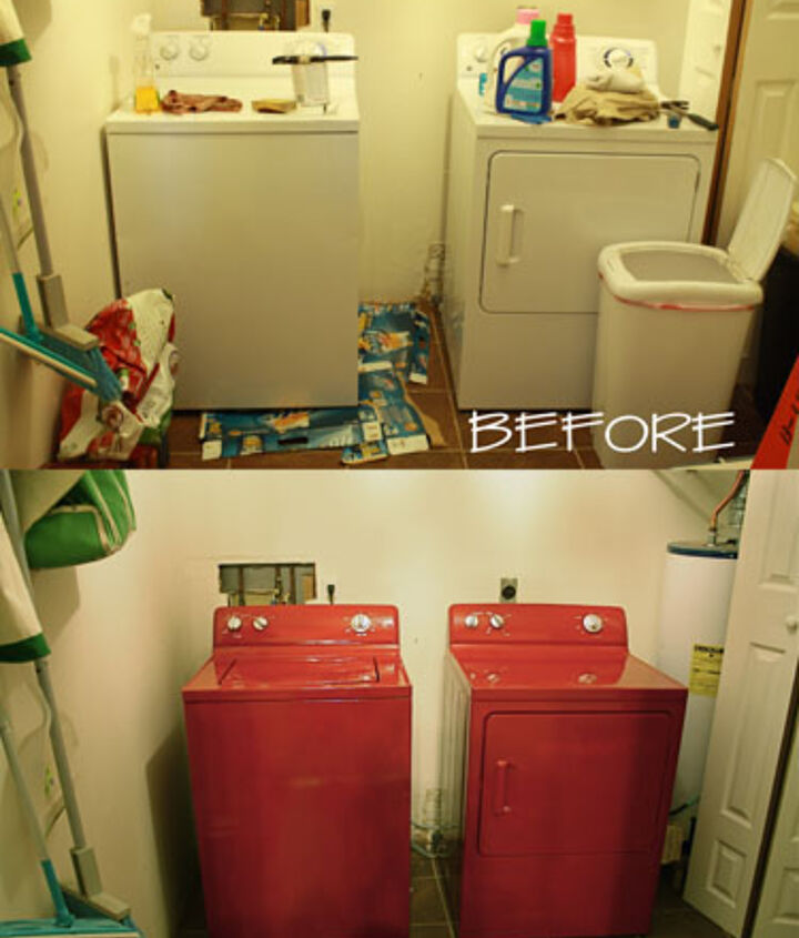 Before and After: Painted appliances.