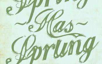 free spring has sprung butterfly printables, seasonal holiday decor, Spring Has Sprung Printable 1 no shadow
