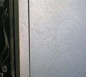 Faux Zinc Metal Cabinet Makeover, Chalkboard Paint, Crafts, Kitchen Cabinets,  Close Up