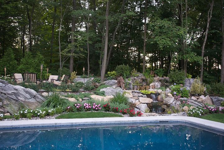 Neat thing about this build is that we only used boulders from the site.  Saved a few bucks for the homeowners.