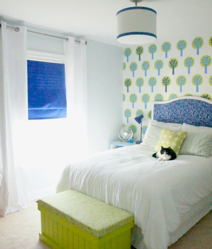 A bright and cheery room for a bright and cheery 3 year old.