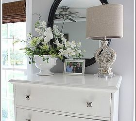 Beach Bedroom Makeover, Bedroom Ideas, Home Decor, I Painted My Dresser  White And