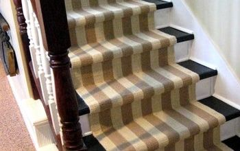 ripping carpet off the stairs, flooring, painting, stairs, Painted stairs with runner