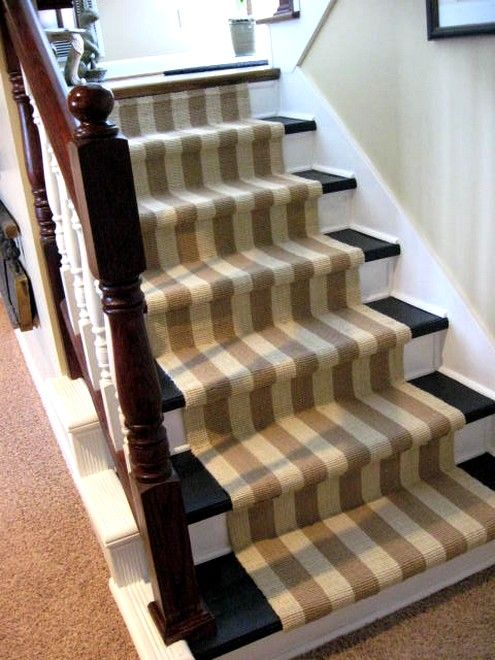 Painted Stairs With Runner Ripping Carpet Off The Hometalk