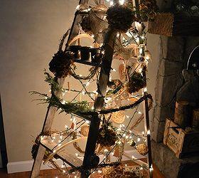 A treeless ladder Christmas tree | Hometalk