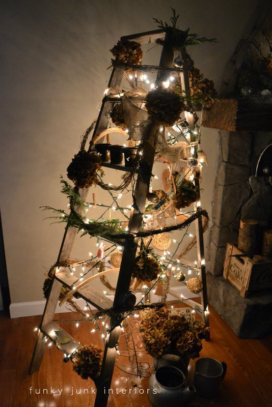 You have no idea how bright a treeless tree when the lights go out. Those branches really hold back light! But not this year. :)