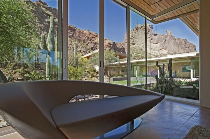 modern luxury home in arizona by kendle design collaborative, architecture, garages