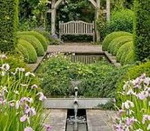 waterscapes create beautiful backyards, flowers, landscape, ponds water features, Bench story via Flower Story on Facebook