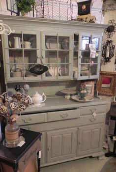 incredible china cupboard and hutch, painted furniture, A phoenix rises from the ashes