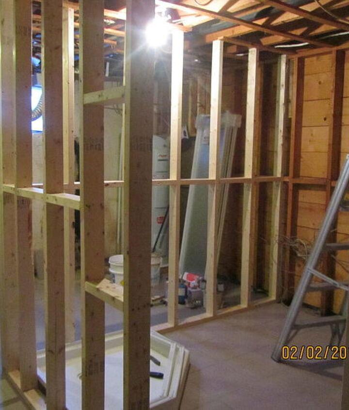bathroom walls go up