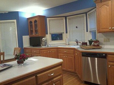 updated my kitchen removed old wallpaper, home decor, kitchen design, painting