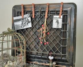 heat register turned clip board diy, crafts, repurposing upcycling