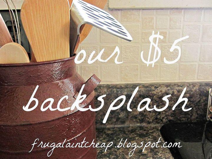 easy and inexpensive kitchen backsplash, home decor, kitchen backsplash, kitchen design