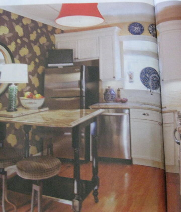 Here's the dream kitchen inspiration pic.  Any tips on helping my reader get the look - on a very small budget?  Thanks Hometalkers!