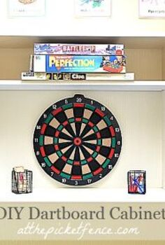 diy dartboard cabinet from a kitchen cupboard, cabinets, repurposing upcycling