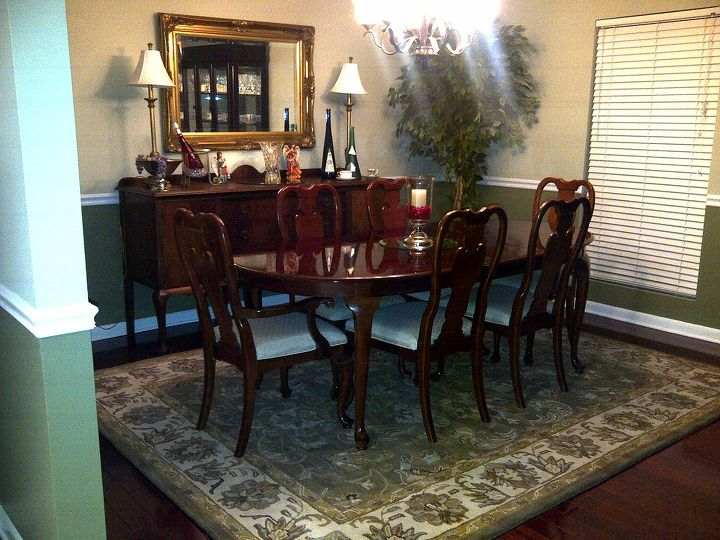 Finished look of dining room