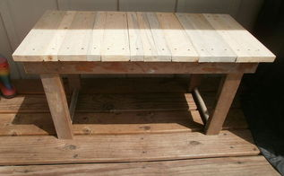 old ladder pallet bench, diy, painted furniture, pallet, repurposing upcycling, woodworking projects