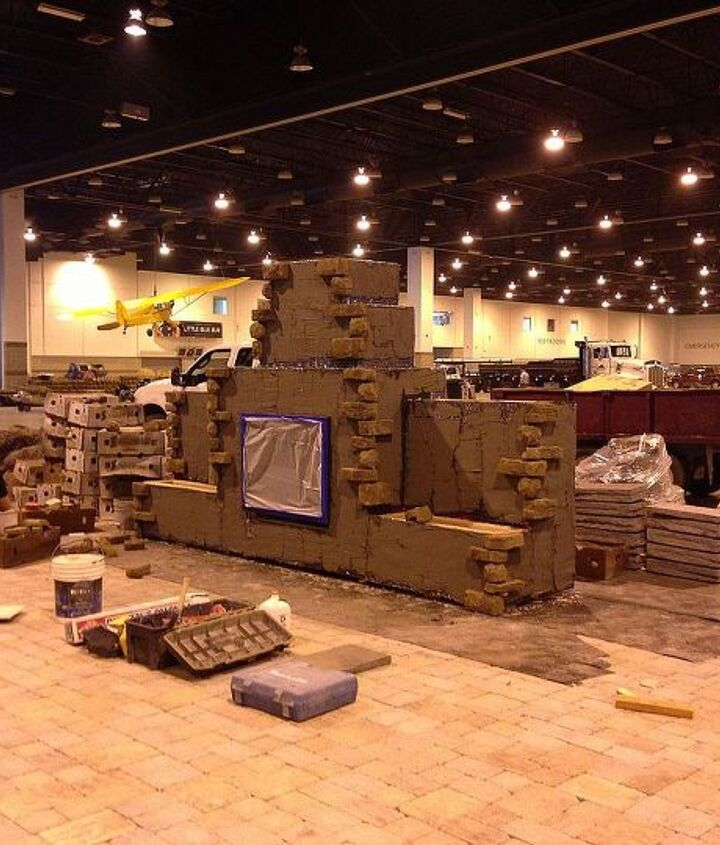 Beginning on the fireplace at Colorado Convention Center.