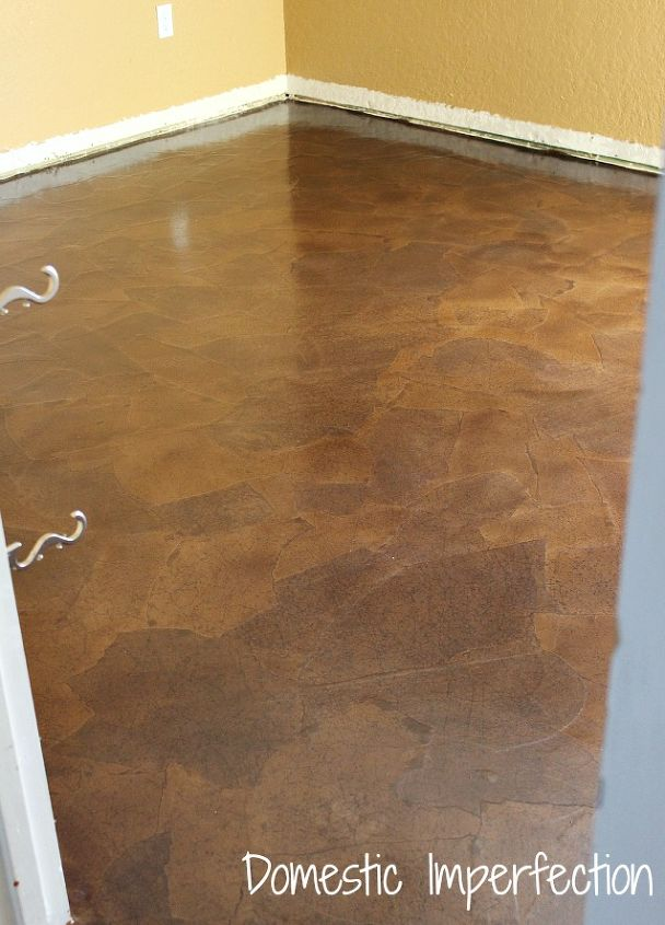 Brown paper bag flooring how to hometalk paper bag floors diy flooring how to after 12 coats of poly solutioingenieria Images