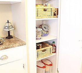Transform Your Broom Closet Into A Pantry, Closet, Adding Baskets And Bins  Has Helped