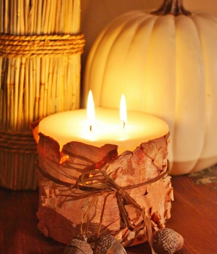 Birch Bark Candles- made with birch bark from your yard!