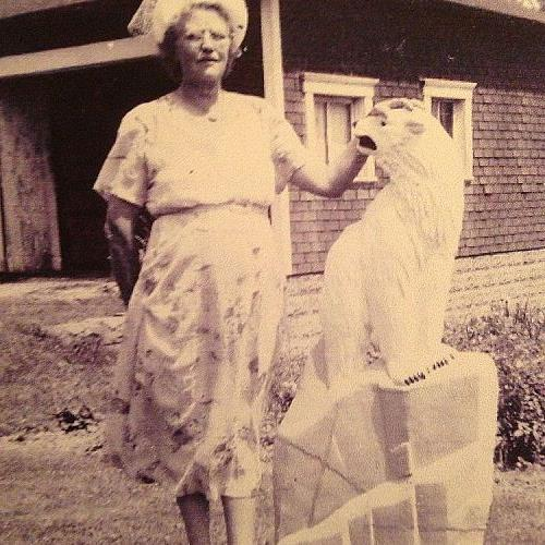 This is our bear 60 years ago with my Granma.