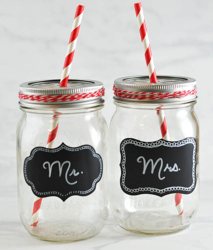 A sweet wedding gift or glasses for a head table?