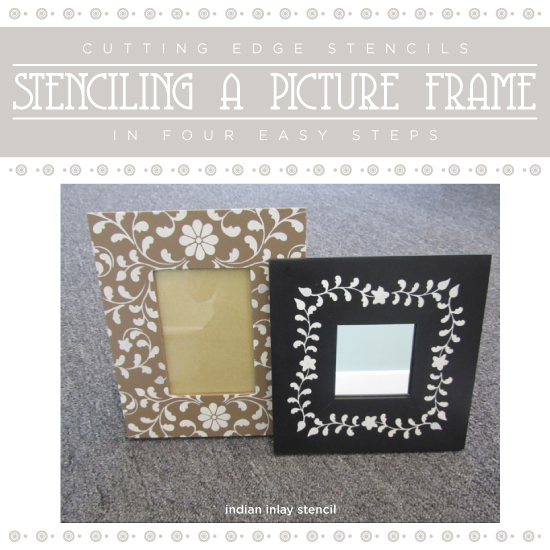 stenciling a picture frame in four easy steps, crafts, painting
