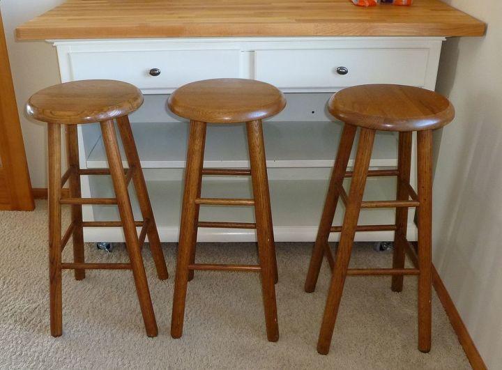 Bar Stools - too tall. How can I shorten legs evenly? | Hometalk