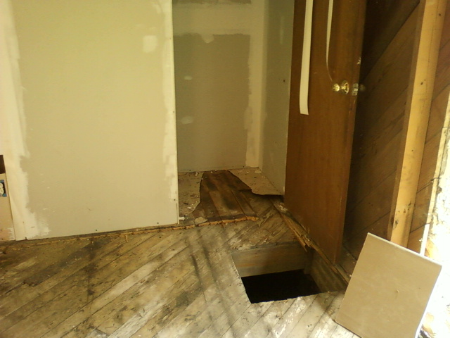 Hole in the floor that we cannot explain....:)