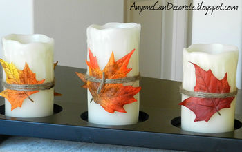 Fall DIY Crafting - Spruce up Your Candles
