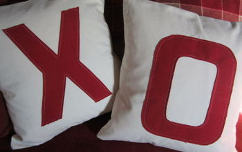 How I Turned White Pillow Covers Into Valentines Day Pillow Covers