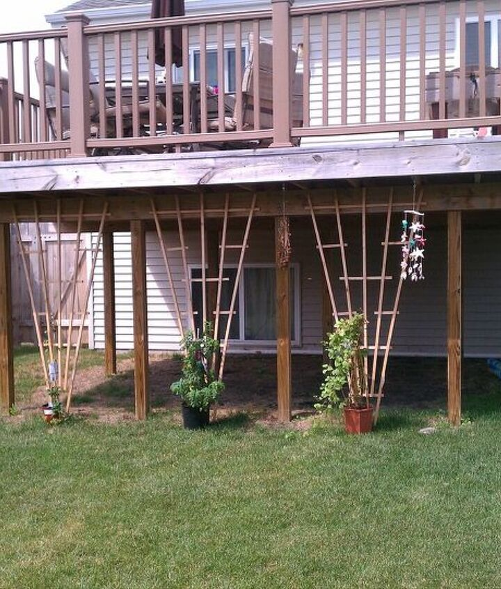 landscaping around under a 2nd level deck, landscape
