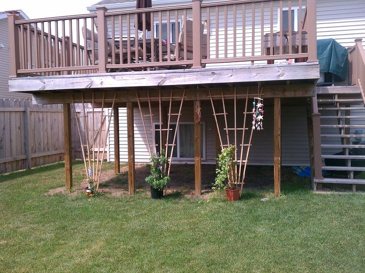 landscaping around under a 2nd level deck, landscape