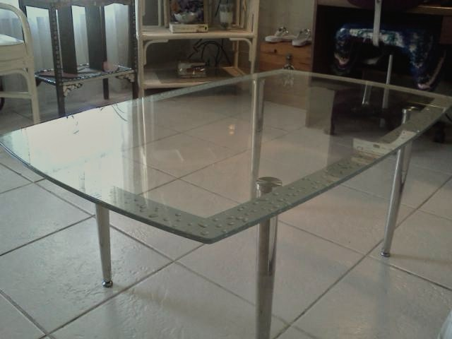 glass top coffee table conversion, painted furniture, repurposing upcycling