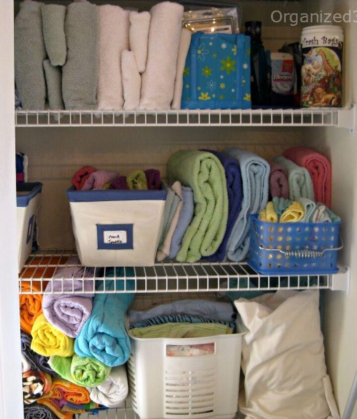 3 easy steps to an organized linen closet.
