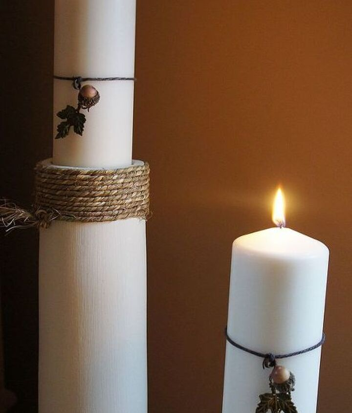 post candle holders, crafts, repurposing upcycling