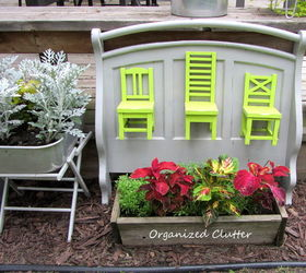 Recycled Pottery Barn Chairs Futon Ends In The Garden, Flowers, Gardening,  Outdoor Living